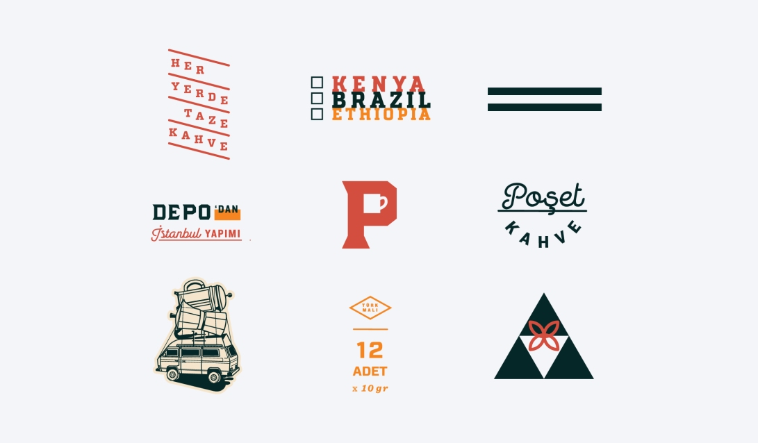 zeki-michael-depo-logo-poset-kahve-logo-identity-packaging-sallama-kahve-design-illustration-exploration-all