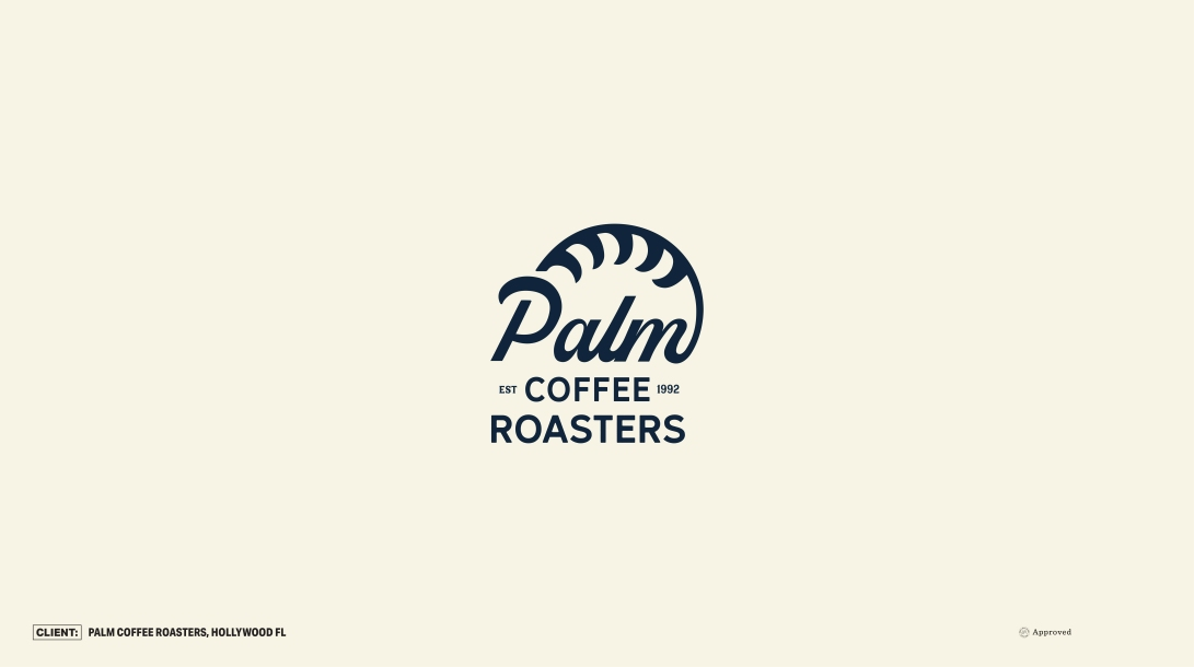 logo-design-brand-branding-coffee-roastery-strategy-hollywood-beach-florida-sunshine-state-palm-waves-script-studio-independent-agency-mark
