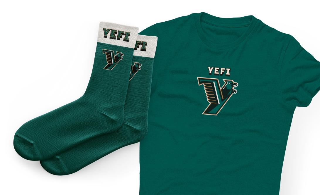 zeki-michael-design-yefi-logo-usa-states-freelance-designer-liqeur-beer-craft-design-football-helmet-mascot-branding-socks