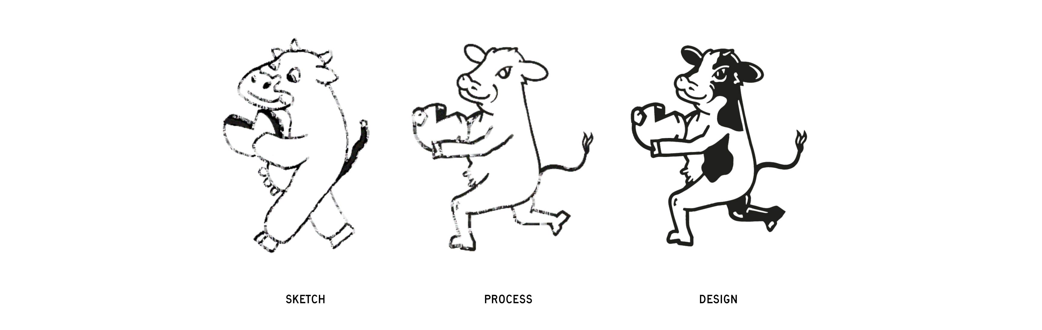 sketch-mascot-guideline-new-bridge-cheese-design-exploration-zeki-michael-design-cheese-cow-spread-tub-sku-range-agency-branding copy copy