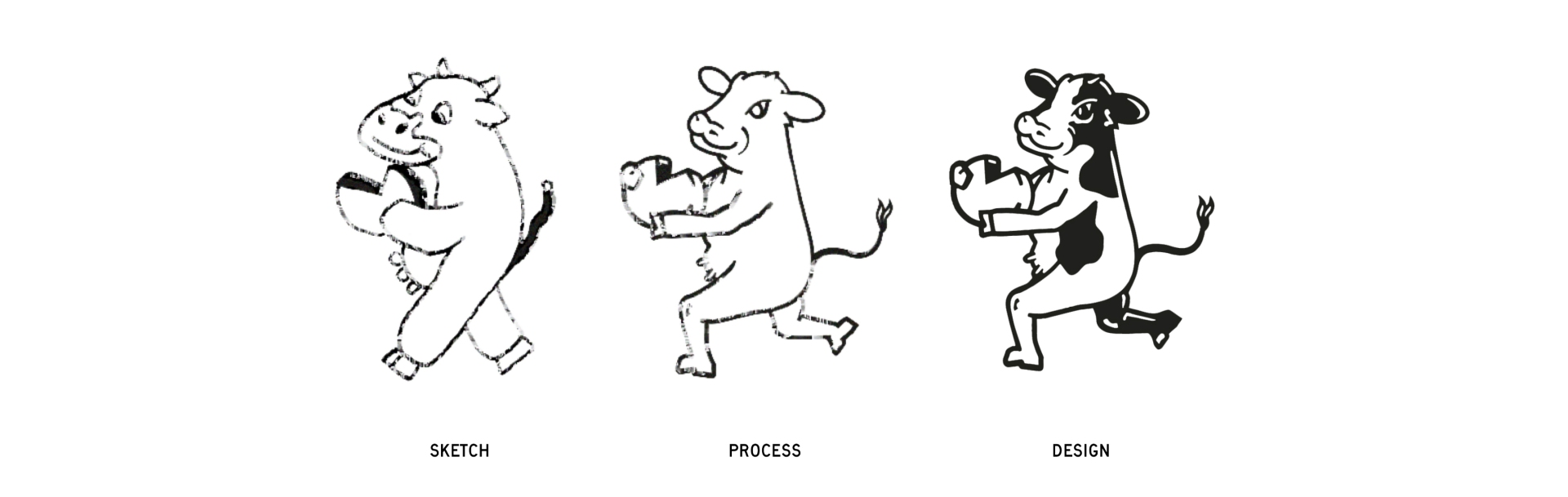 sketch-mascot-guideline-new-bridge-cheese-design-exploration-zeki-michael-design-cheese-cow-spread-tub-sku-range-agency-branding copy copy